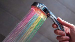 soffione doccia led